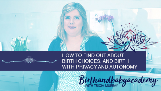 Inspired by Beyoncé – How to find out about birth choices, and birth with privacy and autonomy